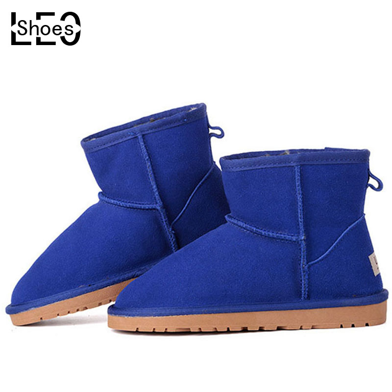 LEO Men Women Unisex Scrub Cowhide Cotton Shoes Low Cylinder Adults Male Female Snow Boots Woman Man Adults Winter Warm Boots<br><br>Aliexpress