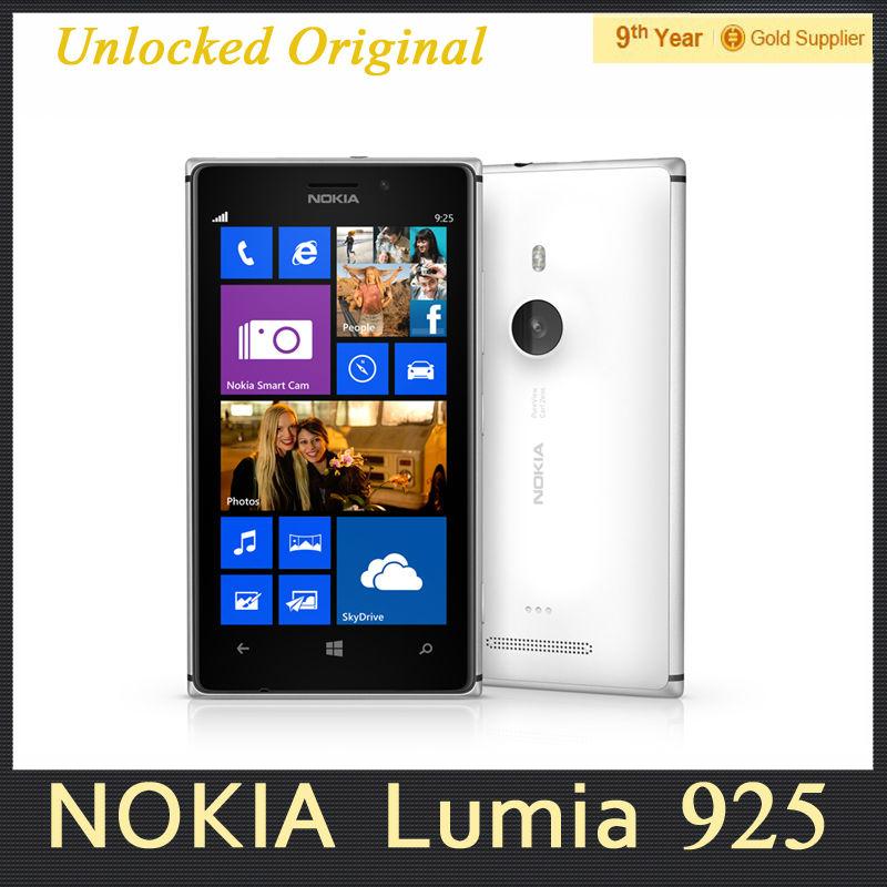 "Original Nokia Lumia 925 Windows8 OS Mobile Phone Dual Core 4.5"" WIFI GPS 1GB RAM 16GB ROM 8MP Refurbished Free Shipping(Hong Kong)"