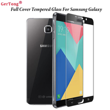 Buy Black Full Cover Premium Tempered Glass Samsung Galaxy J7 J5 A7 A5 A3 2016 2017 Prime S5 S6 Note 4 Screen Protector Film for $1.07 in AliExpress store