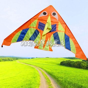 new flying  fish kite,10 pcs per lot, high quality and fast service,wholesale price hot sell with handle and line free shipping