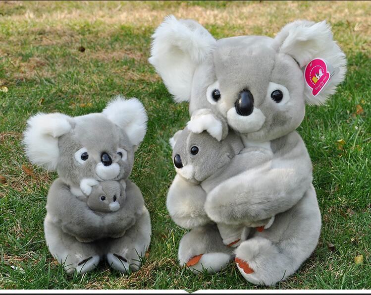 Authentic Toy CLub Plush Stuffed Toy Koala Bear Mother & Son Doll(China (Mainland))