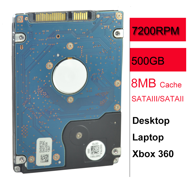 7200RPM SATA II SATA III HDD 2.5 Inch 500 gb Internal Hard Disk Drive 500gb for Your Laptop Notebook PC Computer