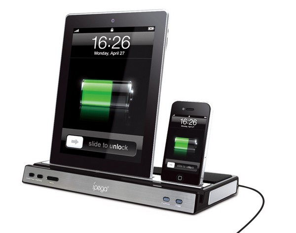 best price ipega charger speaker docking station stereo speaker for ipad 2 3 iphone 4 4s in. Black Bedroom Furniture Sets. Home Design Ideas