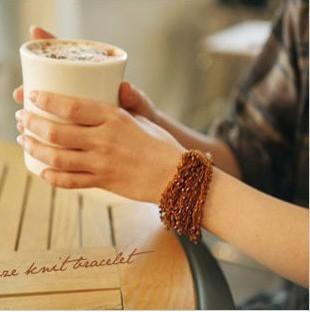 free shipping 3pcs/lot fashion women's jewelry bohemia beads braided wire coins bracelets(China (Mainland))