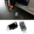 2x Newest LED Car door light ghost shadow light logo projector For Audi A8 A7 A5