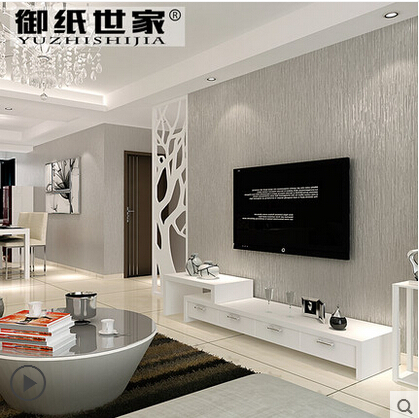 2015 new non woven wallpaper bedroom modern minimalist - Papel pintado salones modernos ...