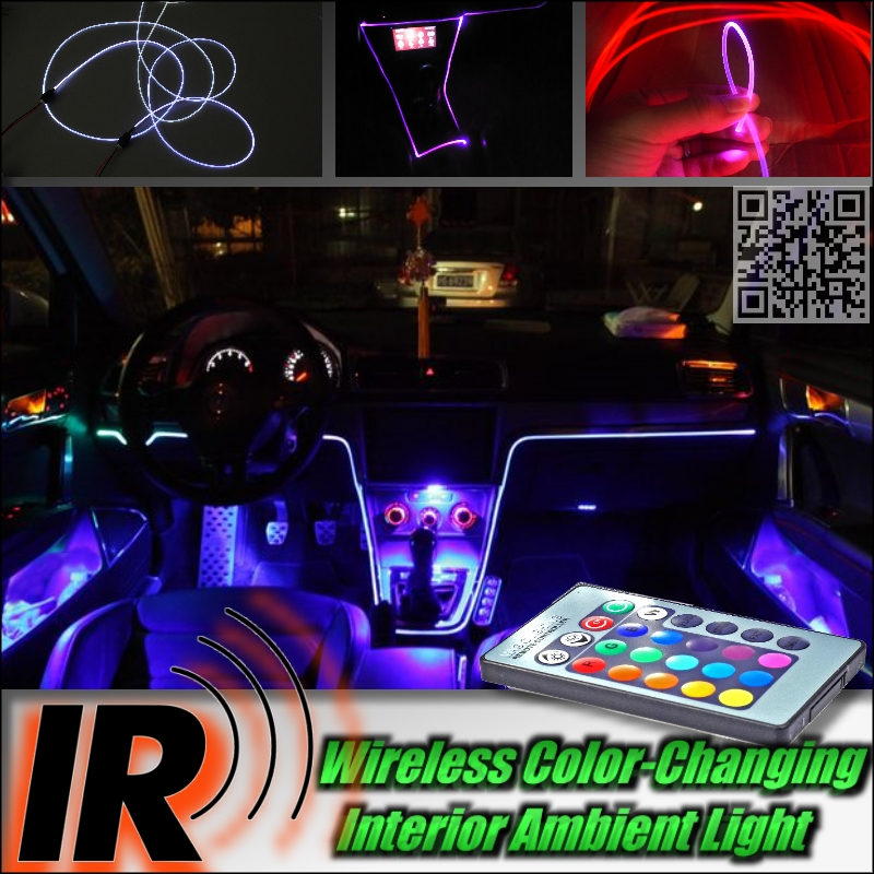Wireless IR Control Car Interior Ambient 16 Color changing Light DIY Instrument Dashboard Light For Audi Q3(China (Mainland))