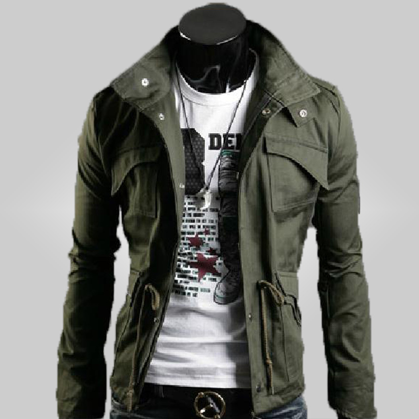 Thin 2015 New Fashion Brand Casual Men Jackets And Coat