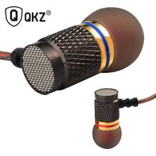 QKZ X2 Enthusiast Bass Ear Headphones Copper Forging 7MM Shocking Headset Anti-Noise Microphone Sound Quality Fone De Ouvido
