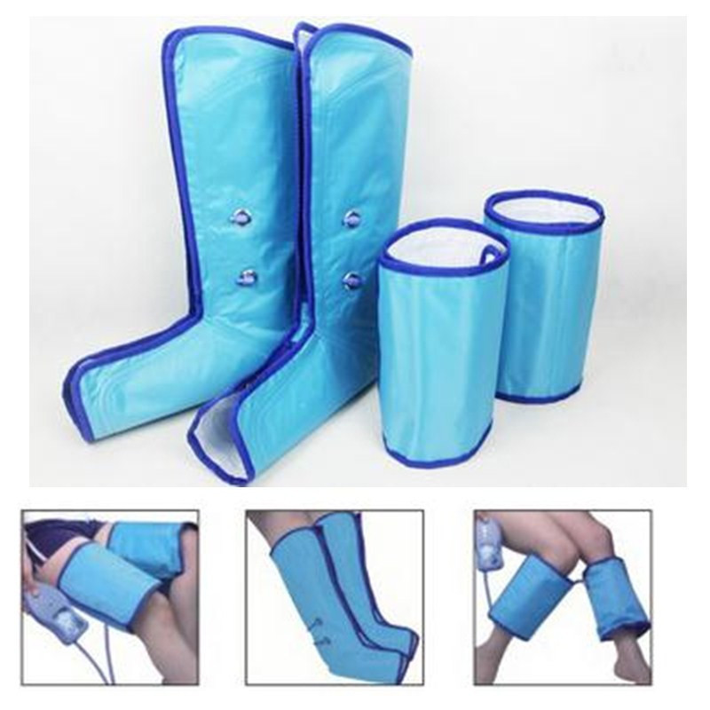 Woman Slimming Legs Thigh Foot Massager Air Compression Leg Wraps Boots Socks Heating Sauna Belt Relax Ankle Therapy Massage(China (Mainland))
