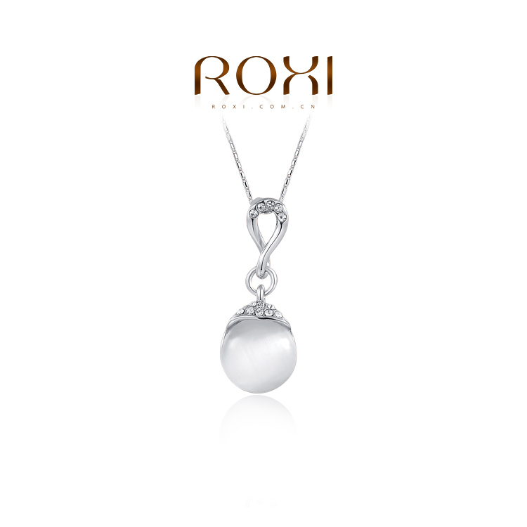 ROXI fashion necklaces women 2014 minimalist opal created crystal white gold rose plated (2 colors) - international trading LTD ( and retail store)