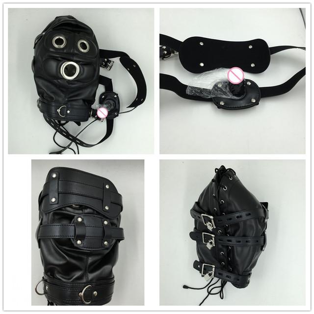 Leather fetish mask