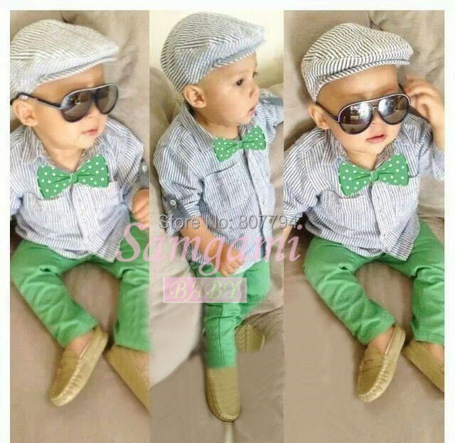 Free shipping!3pcs set new 2015 fashion brand boy cool clothes baby suits t-shirt +pants+tie copy jeans baby girl clothing sets(China (Mainland))