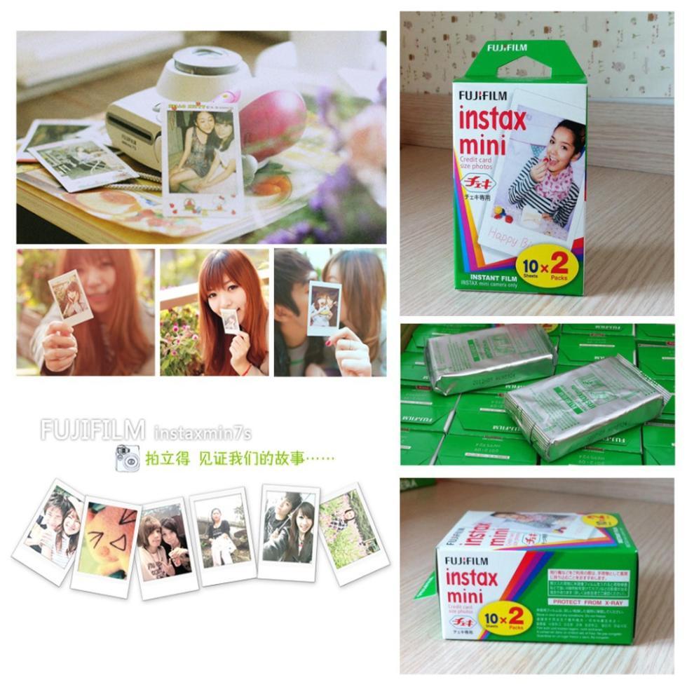 20Pcs Fujifilm Instax Mini film for Instant Camera mini 8 7s 25 50s 90 White Edge 3 inch film Photo Paper(China (Mainland))
