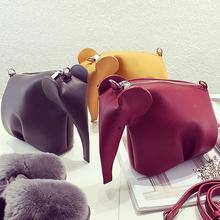 New Cute animal elephant modeling fashion modeling mini cell phone pocket flap shoulder bag ladies messenger bag purse 5 colors(China (Mainland))