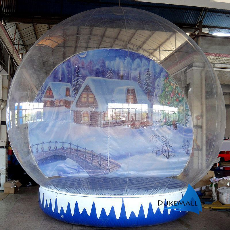 Globe christmas outdoor decoration advertisement inflatable snow globe