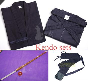 Бесплатная Доставка Высокое качество кендо наборы (kendogi + хакама + нож + мешок) подгонянные