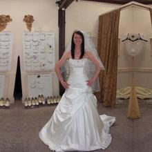 KSD169 High Quality Cheap Price Strapless Bridal Wedding Dress Luxury Satin Wedding Dresses vestido de noiva 2017(China (Mainland))