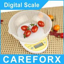 Nuevo barato 5 kg / 1 g Digital Postal cocina comida dieta gramos escala de la cocina saludable OZ LB 5000 g Color blanco electrónica del peso de Balance