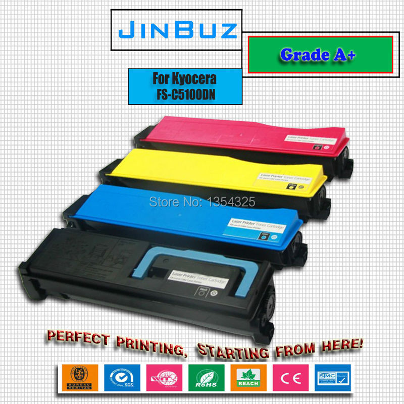 4PC Lot Compatible For Kyocera Printer FS C5100DN FS C5100DN Toner cartridge TK 542 BK C