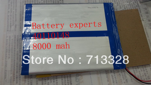 Original Li-ion Battery 3.7v 8000mAH(Approx) for Sanei N10 Quad Core, AMPE A10 Quad Core,Dual Core 3G Tablet PC 40*110*148mm(China (Mainland))