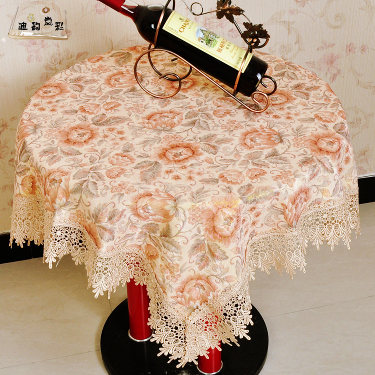 high-grade round table cloth tablecloth with napkins and water soluble rectangular European fabric printing(China (Mainland))