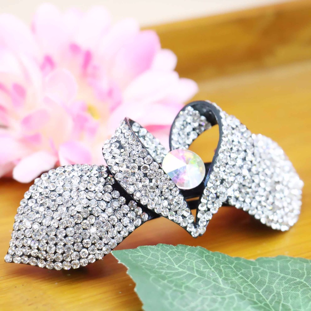 40*93mm Hot Korean style Hair Clip Accessory Wedding Headdress Crystal beads For Girls women Rhinestone Gifts Butterfly(China (Mainland))