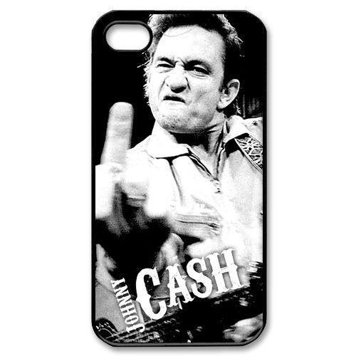 New Johnny Cash Middle finger Plastic Back Cover Skin Cell Phone Hard Case for iphone 4/4s/5/5s/5c/6/6plus(China (Mainland))