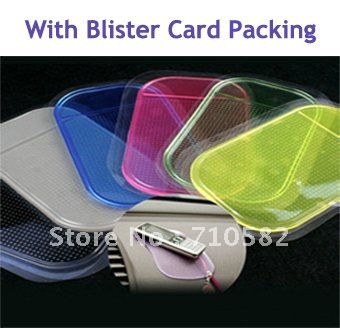 50PCS/LOT free shipping New100% Silicon Car Anti Slip Mat Dashboard Cell Phone Holder with Blister Card Packing(China (Mainland))