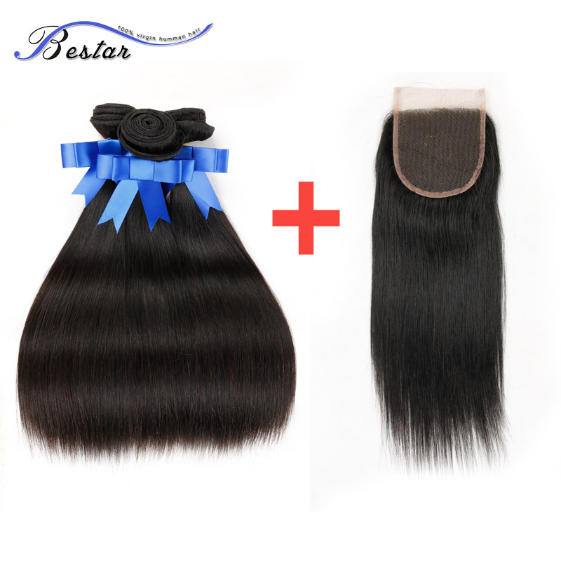 7A Peruvian Straight Virgin Hair With Closure 1B 3 Bundles Peruvian Straight Hair With Closure Straight Bundles With Closure<br><br>Aliexpress