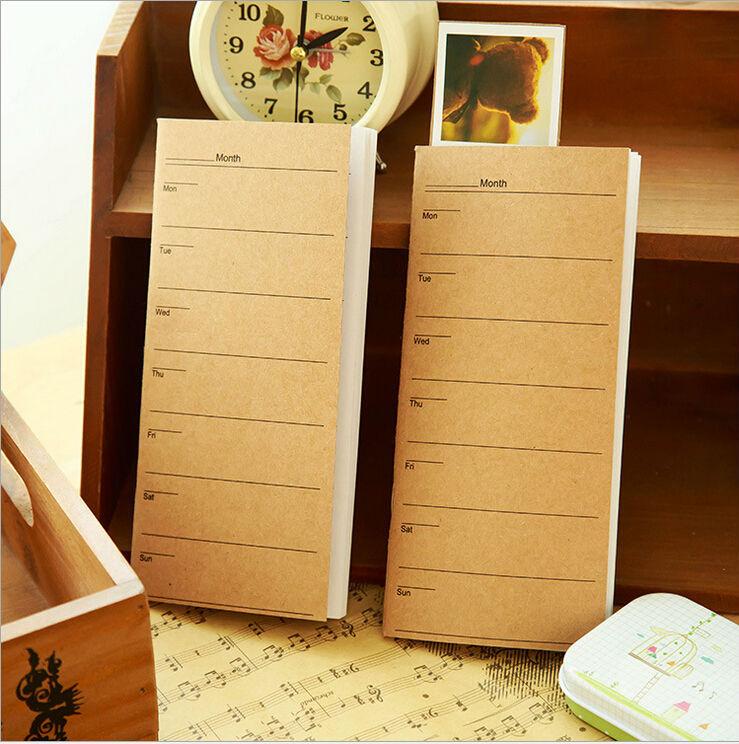 Гаджет  New kraft Diary / weekly planner / Notebook / Notepads / Fashion  No.0142 None Офисные и Школьные принадлежности