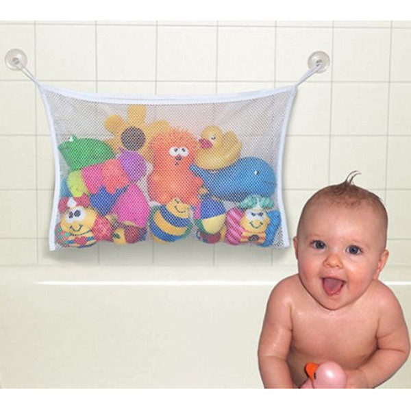 Creative Folding Eco-Friendly High Quality Baby Bathroom Mesh Bag Child Bath Toy Storage Bag Net Suction Cup Baskets(China (Mainland))