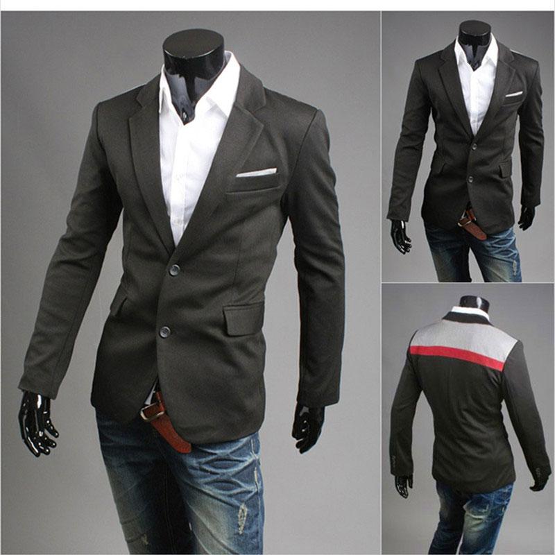Men Blazer 2016 New Arrival Fashion Slim Blazer Men Single Breasted Solid Comfortable Men Suit Size M-2L(China (Mainland))