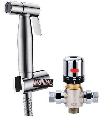 Гаджет  304 Stainless steel Hand held Bidet shower Hot Cold water Mixing Valve toilet sprayer set None Строительство и Недвижимость