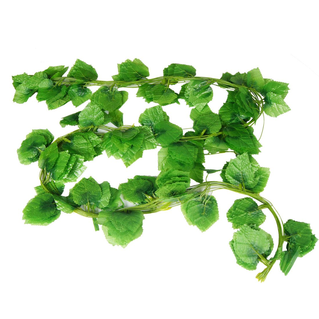 Home decor green artificial grape leaves hanging vine 7 for Artificial grape vines decoration