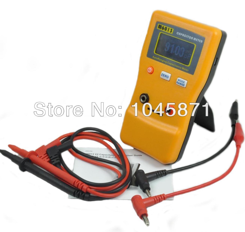 M025 M6013 New Auto Range Digital Capacitor Capacitance Tester Meter 0.01pF to 470mF FREE SHIPPING