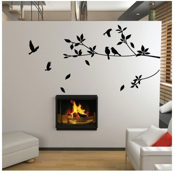 Wholesale Popular  High Quality DIY Removable Mural Decal Wall Sticker Trees Branches Birds Art Vinyl Decor  Kids Room Wallpaper