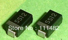 100 PCS SS12 DO-214AC 1N5817 SMA SMD DIODE 1A SURFACE MOUNT SCHOTTKY(China (Mainland))