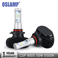 Oslamp 50W 9005 HB3 LED Car Headlight 6500K 8000lm CREE CSP Chips Auto Fog Light Bulb