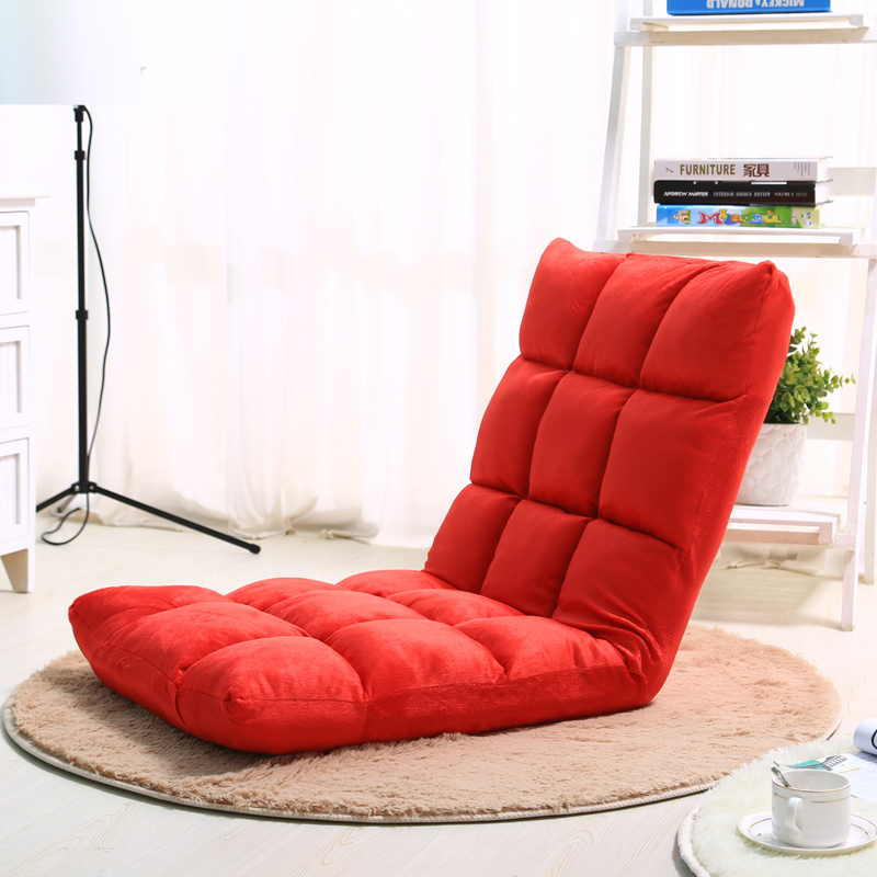 red lazy sofa 110cmx50cm beanbag folding chair bed leisure. Black Bedroom Furniture Sets. Home Design Ideas