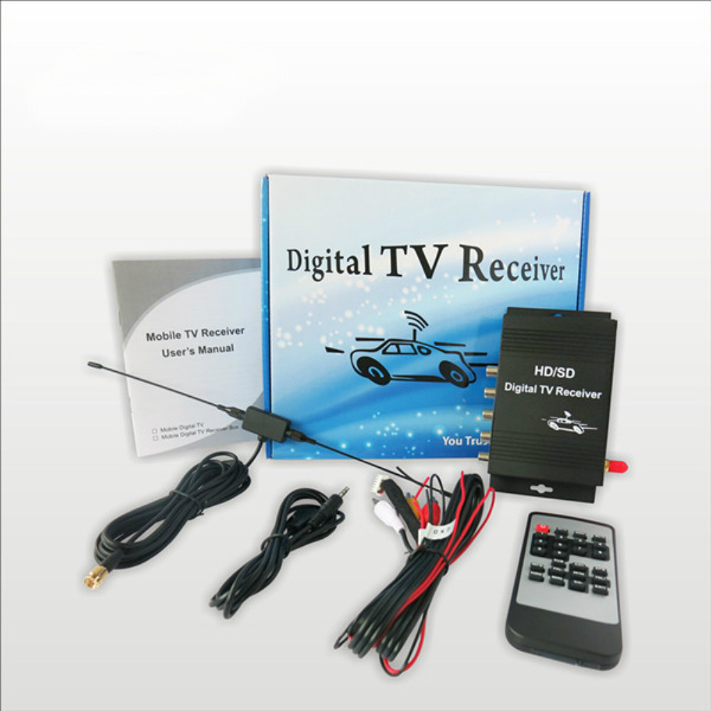 High quality USA ATSC Car Digital TV Receiver ATSC MPEG-4 Mobile Digital TV Turner Box For American Free shipping(China (Mainland))