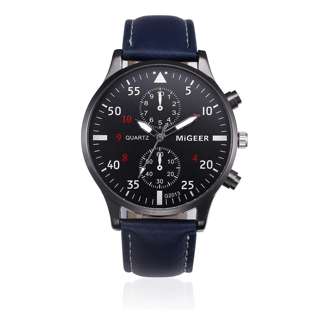 Часы с кожаным ремешком в стиле ретро мужские часы топового бренда спортивные aeProduct.getSubject()
