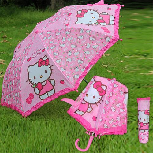 Printing Bent Handle umbrella hello kitty non Automatic guarda chuva Portable umbrella kids Fashion parapluie Brand new(China (Mainland))