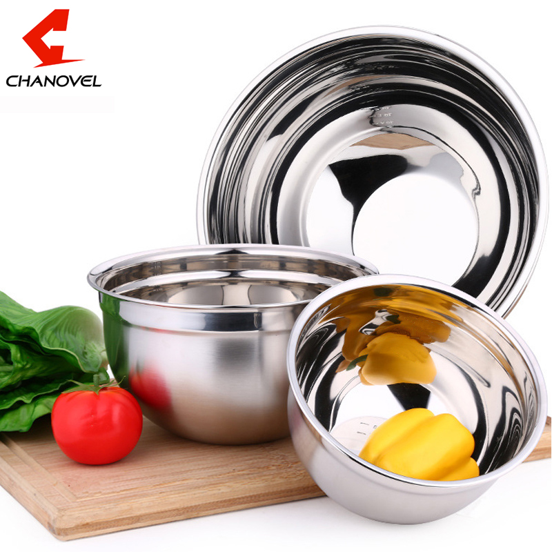 2016 Ingredients Standby Bowls Mixing Bowl Stainless Steel DIY Cake Bread Salad Mixer Kitchen Cooking Tools(China (Mainland))