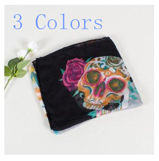 Own factory New 2015 New arrival Colorful Square Bandanas Cotton Head Wrap Scarf women skull scarves 110*110cm fashion scarf(China (Mainland))
