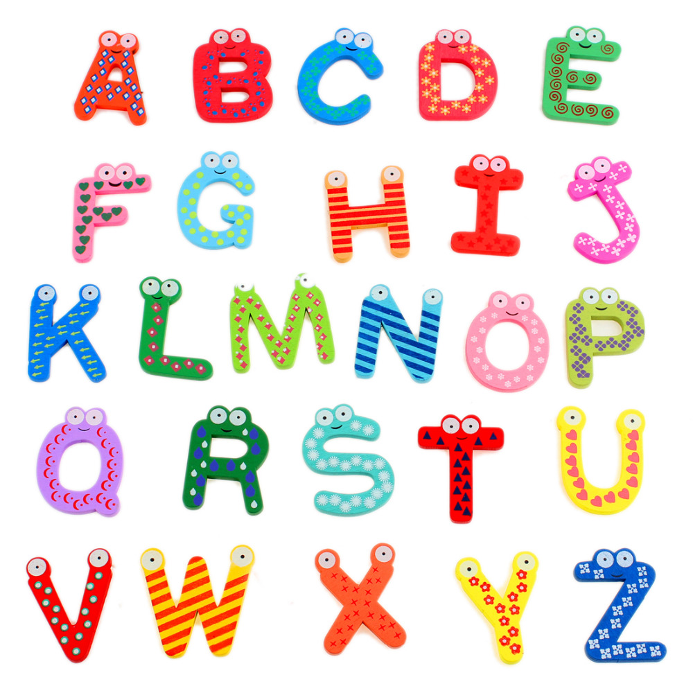 Popular wooden magnetic letters buy cheap wooden magnetic for Buy magnetic alphabet letters