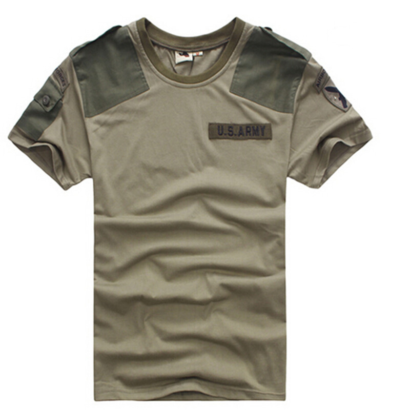 Quality Outdoors Men Breathable Army Tactical Combat T Shirt US Army Short Sleeve T-shirt CS T-shirt Military Hot Dry Sport Tees(China (Mainland))