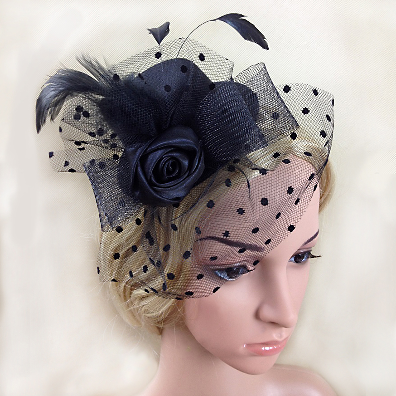 Hot selling sinamay fascinator hats,wedding hats and fascinators black in womens or lady hair accessories, wedding hat veils(China (Mainland))
