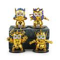 4 Minions Minion Cosplay Saint Seiya Taurus Aquarius Scorpio Aries Boxed PVC Action Figure Collection Model