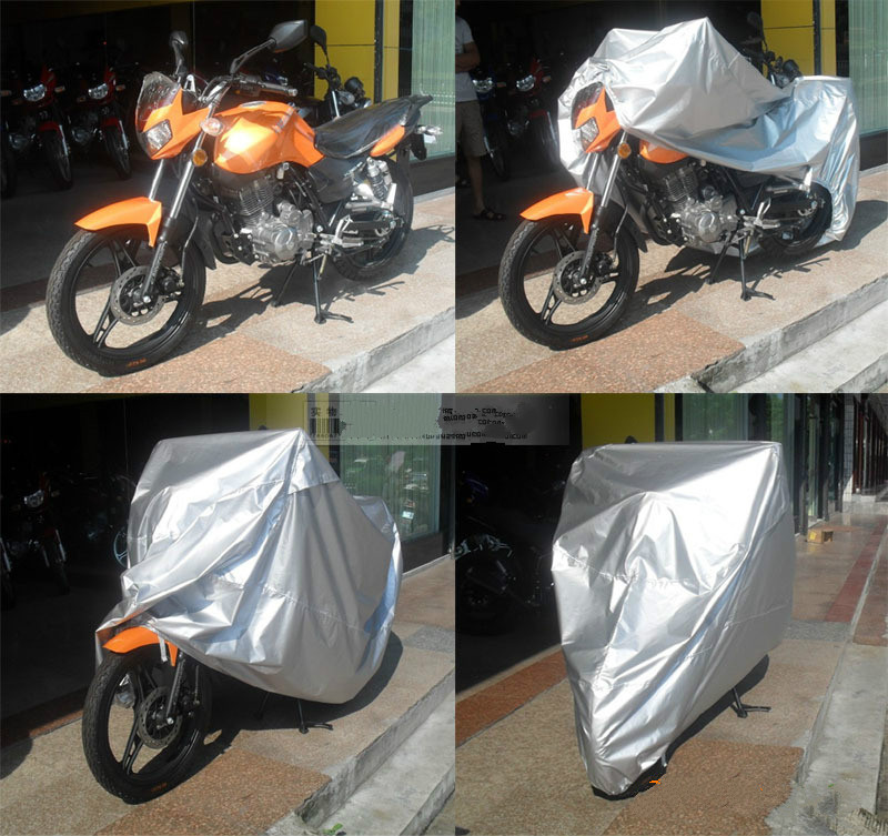 230cmx105cmx130cm Motorcycle Covering Waterproof Dustproof Scooter Cover UV resistant Heavy Racing Bike Cover(China (Mainland))